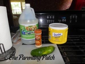 Vinegar, Onion Powder, Sugar, and Cucumber