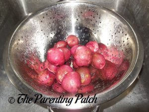Washing the Red Potatoes