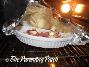 Baking the Seasoned Potatoes