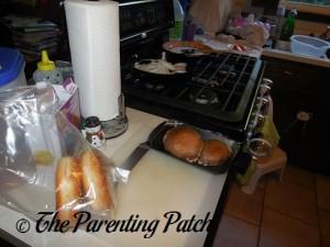 Preparing the Hello Fresh Portabella Mushroom Burger