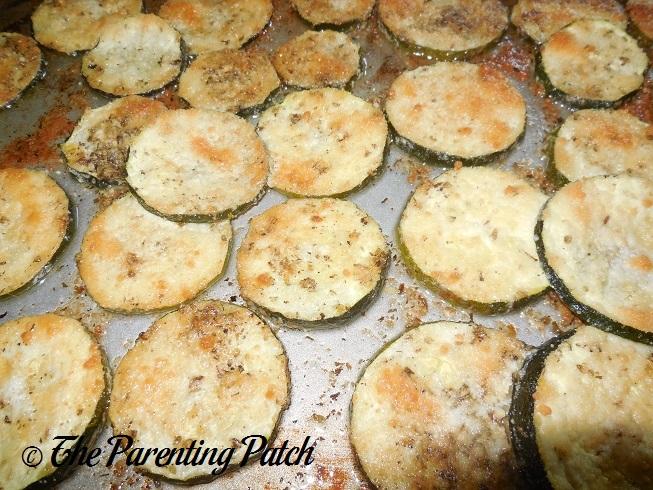 Oregano Parmesan Baked Zucchini