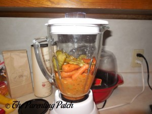 Blending the Carrots, Peas, and Cucumbers