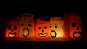 Glowing Halloween Pumpkin Bags