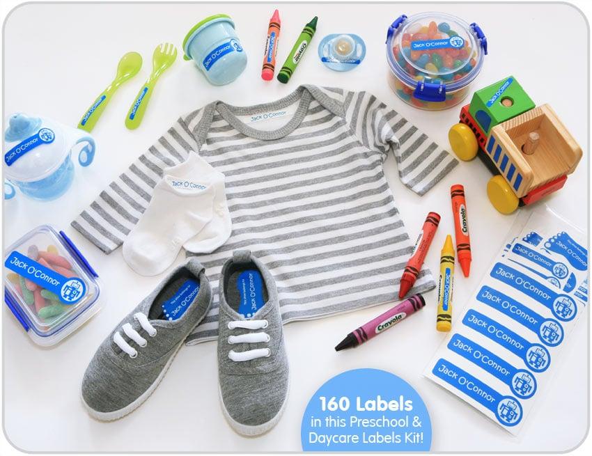Bright Star Kids Preschool Daycare Labels Kit 1