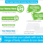 Bright Star Kids Preschool Daycare Labels Kit 2