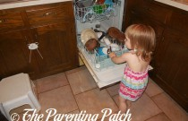 Toddler Chores: Putting Away the Clean Dishes