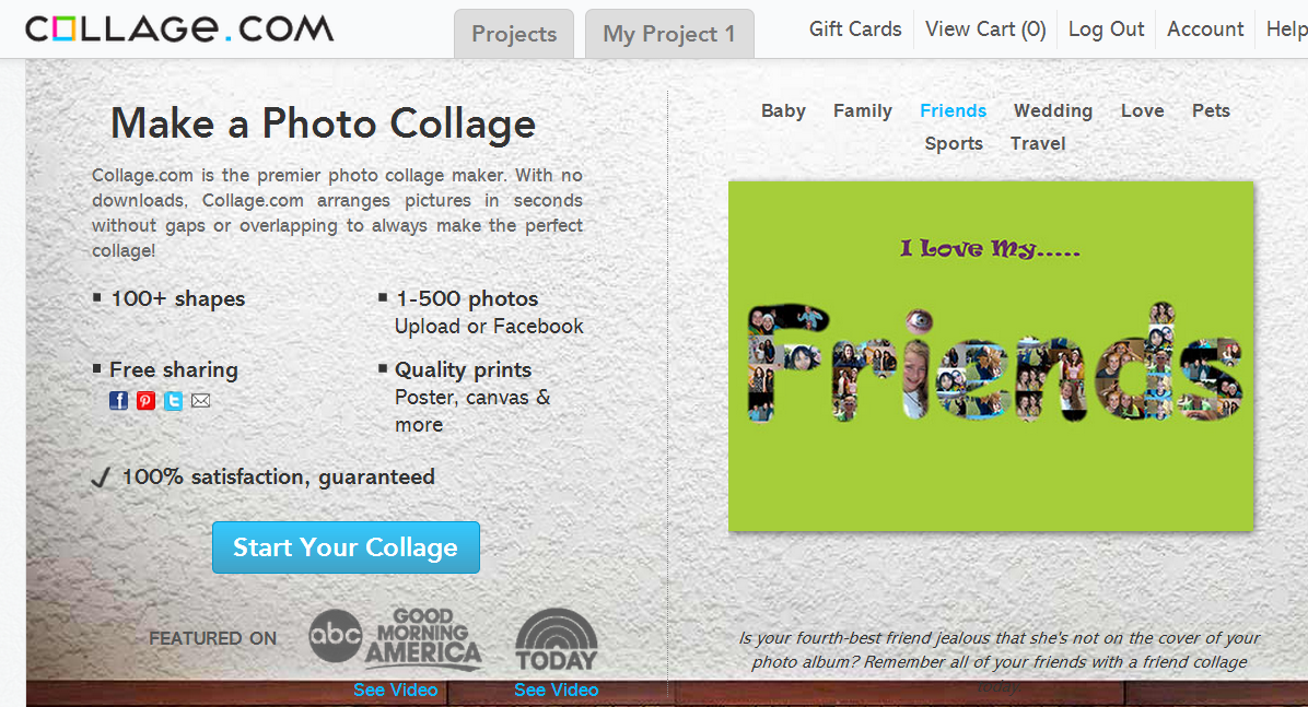 Collage.com Screenshot 1