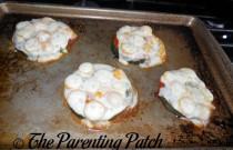 Baking Zucchini Pizzas: Wordless Wednesday