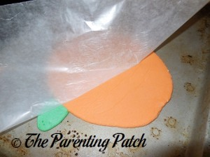 Flipping the Salt Dough Pumpkin Over