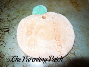 Baked Salt Dough Pumpkin