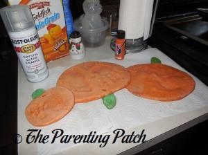 Baked Salt Dough Pumpkins