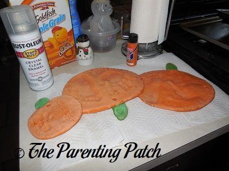 baked salt dough pumpkin baked salt dough pumpkins - Halloween Salt Dough Crafts