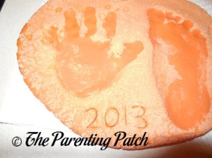 Adding Acrylic Paint Prints to the Pumpkins