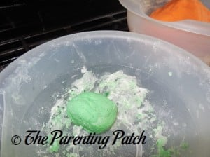 Ball of Green Salt Dough