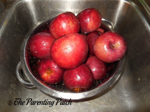 Washing Apples for Apple Butter