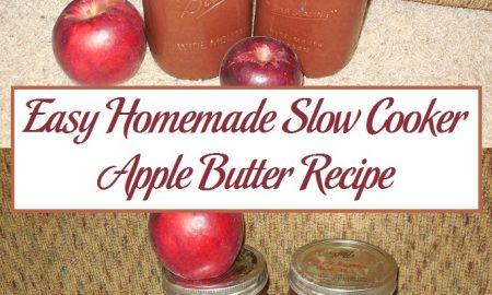 Easy Homemade Slow Cooker Apple Butter Recipe