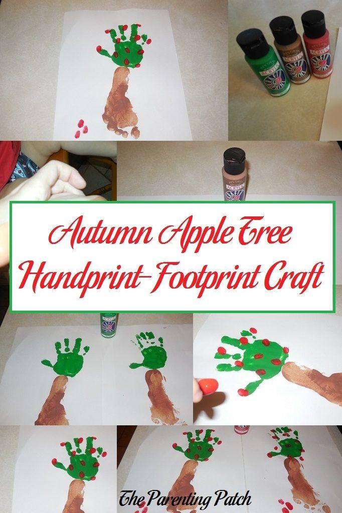 Autumn Apple Tree Handprint-Footprint Craft