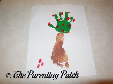 Autumn Apple Tree Handprint-Footprint Craft