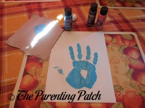Making a Blue Handprint