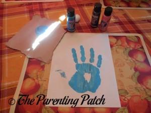 Making a Blue Handprint