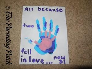 Anniversary Family Handprint Craft