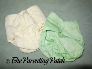 Banana Cream and Sweet Pea Buttons Diapers