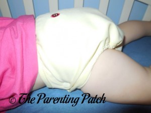 Side of Buttons Diaper with Large Insert