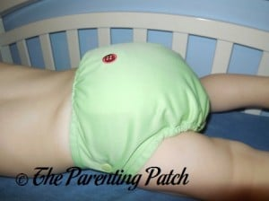 Side of Buttons Diaper with Large Insert and Nighttime Doubler