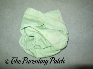 Front of Sweet Pea Buttons Diaper