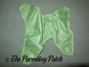 Inside of Sweet Pea Buttons Diaper