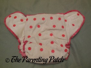 Unsnapped Front of Wonderful Bambino Bamboo Fitted Diaper