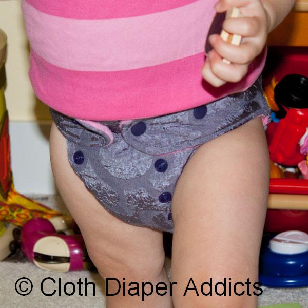 Gray-Purple Butt-Ons Hybrid Fitted Diaper 3