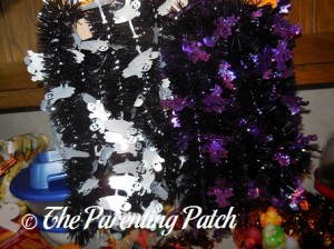 White Ghost and Purple Bat Garland