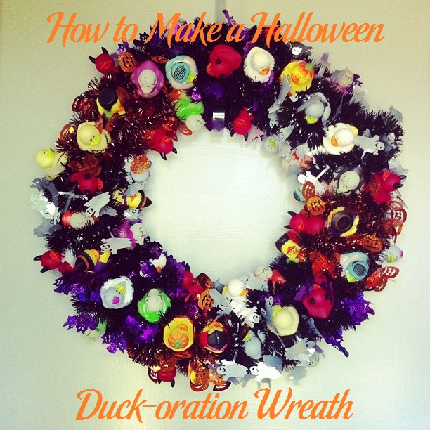 How to Make a Halloween Duck-oration Wreath