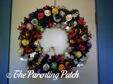 The Duck and the Halloween Duck-oration Wreath