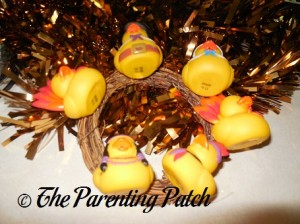 Gold Garland for the Thanksgiving Rubber Duck Wreath