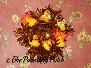Finished Thanksgiving Duck-oration Wreath