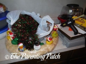 Christmas Garland and the Rubber Duck Wreath