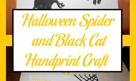 Halloween Spider and Black Cat Handprint Craft