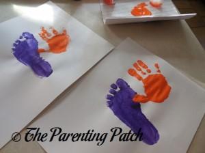 Orange Right Handprint