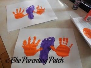 Orange Left Handprint