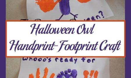 Halloween Owl Handprint-Footprint Craft
