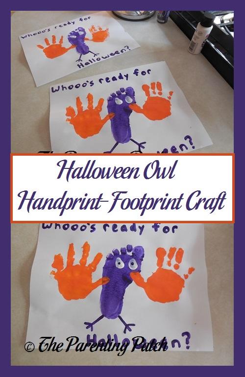 Halloween Owl Handprint-Footprint Craft | Parenting Patch