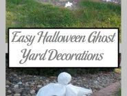 Easy Halloween Ghost Yard Decorations