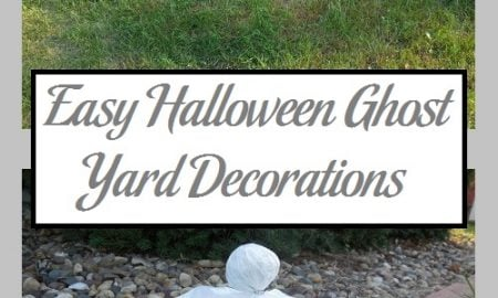 Easy Halloween Ghost Yard Decorations