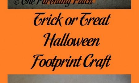 Trick or Treat Halloween Footprint Craft