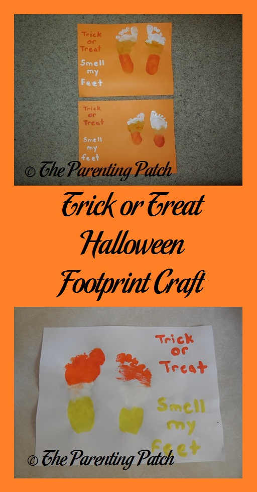 Trick or Treat Halloween Footprint Craft