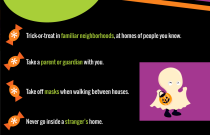 Trick or Treat Safety Tips Infographic