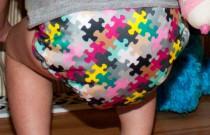 FuzziBunz Pink Puzzle: Daily Diaper