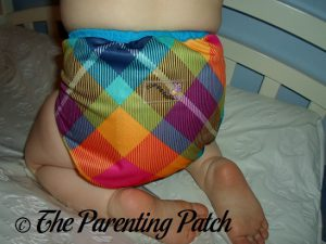 Back View of the Rumparooz One-Size Cloth Diaper Cover